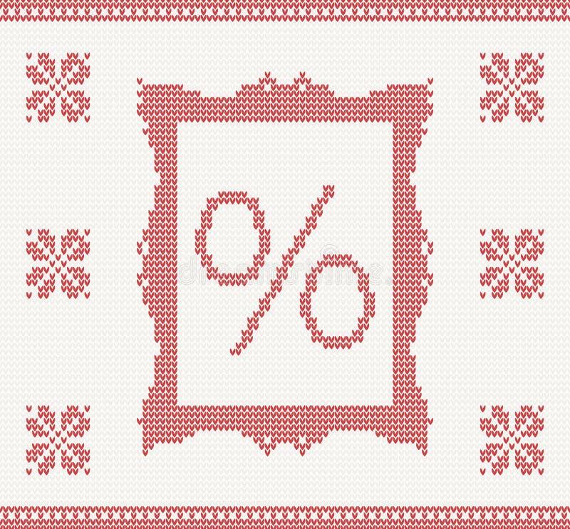 Modello tricottato con le percentuali illustrazione vettoriale