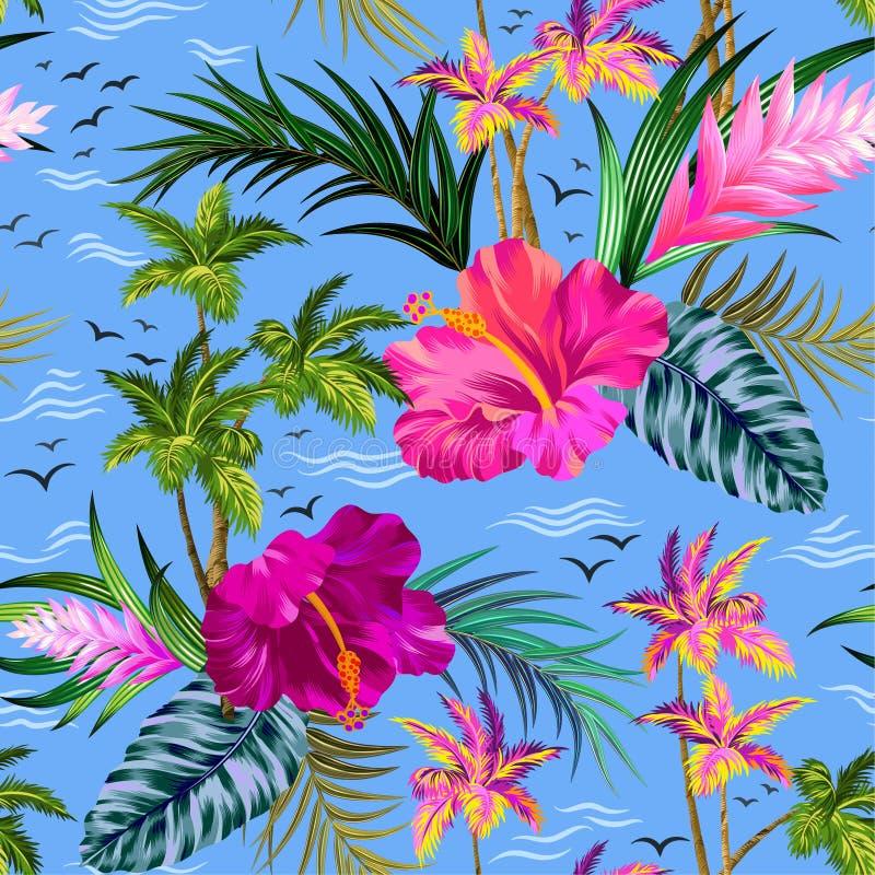 Modello tropicale delle palme di vettore illustrazione vettoriale