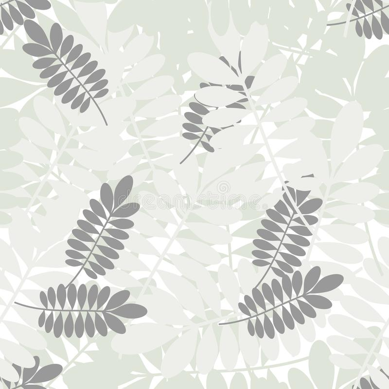 Modello tropicale senza cuciture con le foglie semplici illustrazione vettoriale