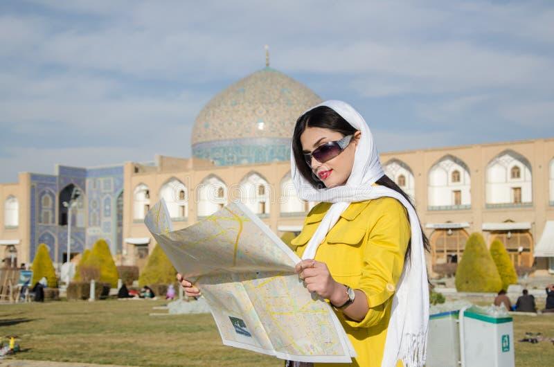 Modello turistico fotografia stock