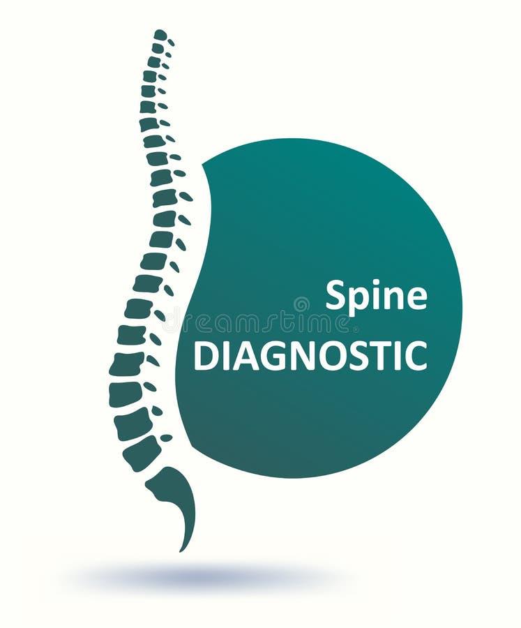 Modello umano di logo della spina dorsale della spina dorsale illustrazione di stock
