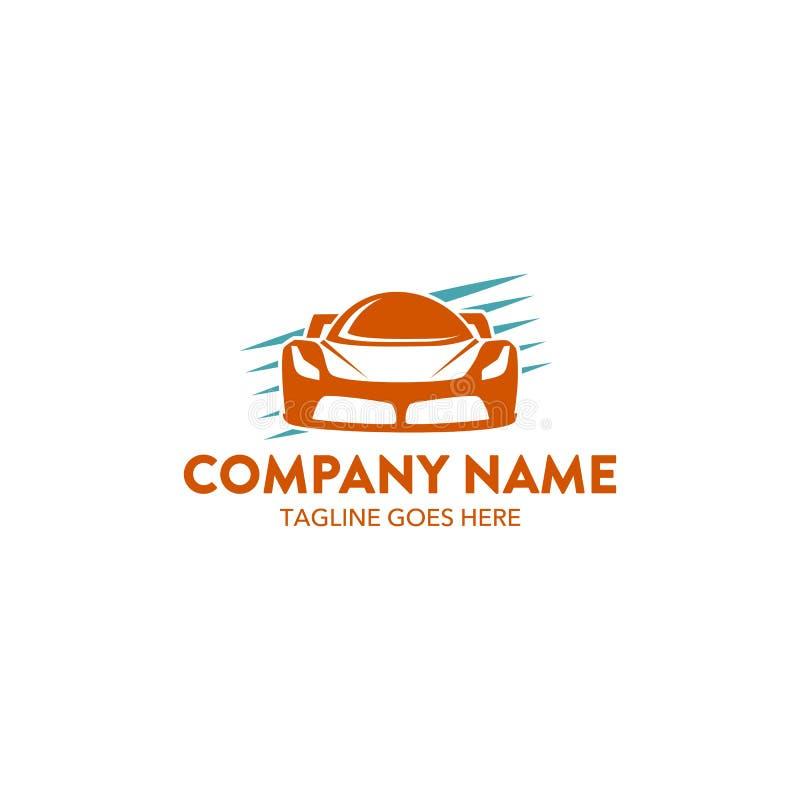 Modello unico di logo dell'automobile Vettore editable royalty illustrazione gratis