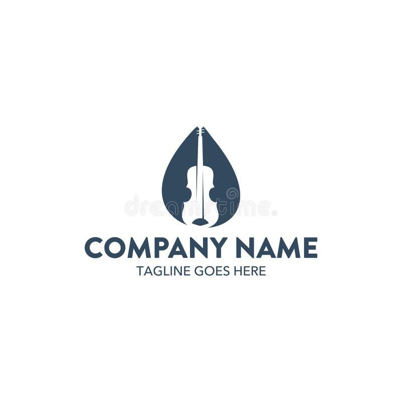 Modello unico di logo di musica Vettore editable illustrazione di stock