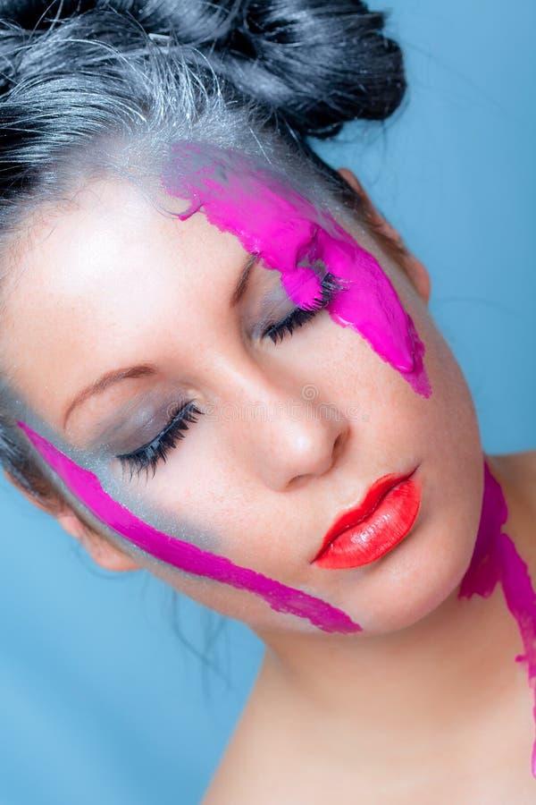 Modello variopinto dei capelli di colore immagine stock