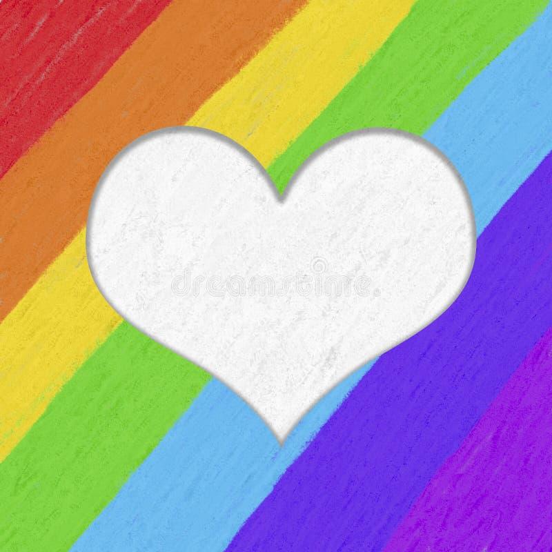 Modello variopinto del manifesto di gay pride illustrazione di stock