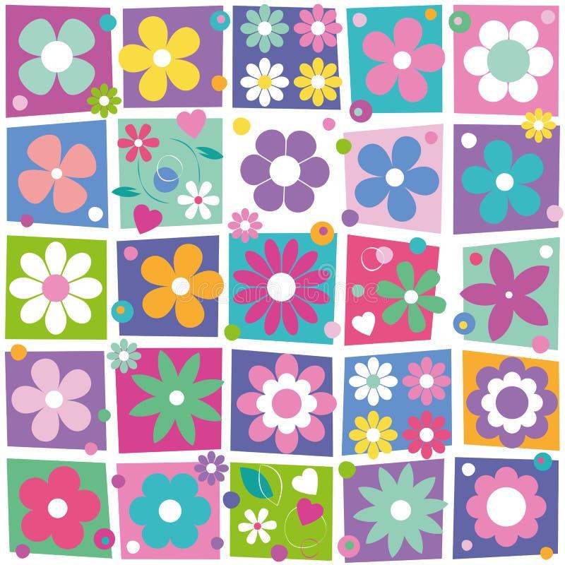 Modello variopinto della raccolta dei fiori illustrazione di stock