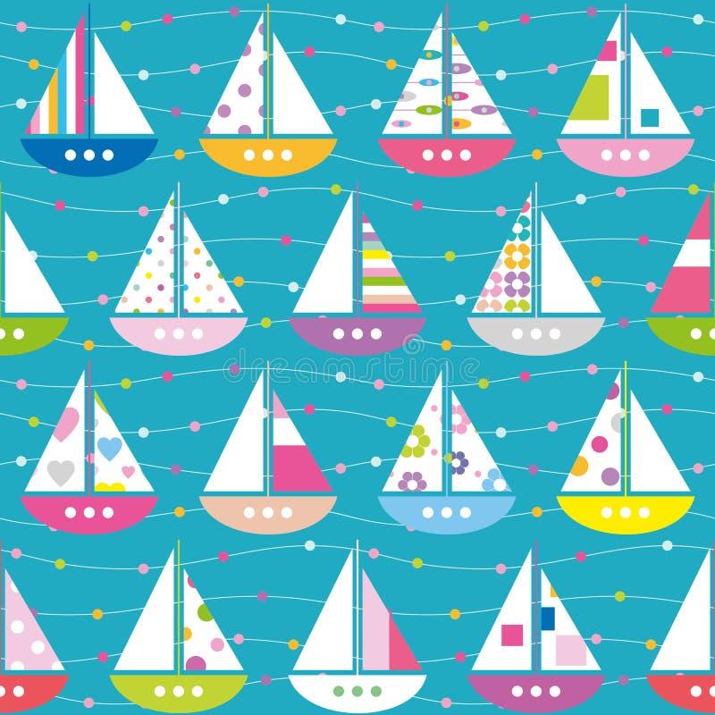 Modello variopinto delle barche royalty illustrazione gratis