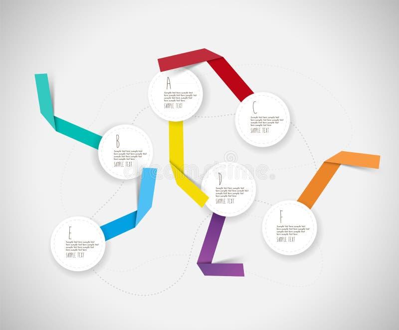 Modello variopinto di Infographic con i cerchi illustrazione vettoriale