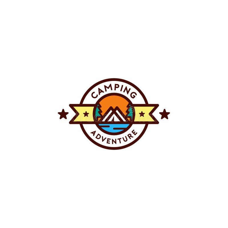 Modello variopinto di logo del campo fotografia stock