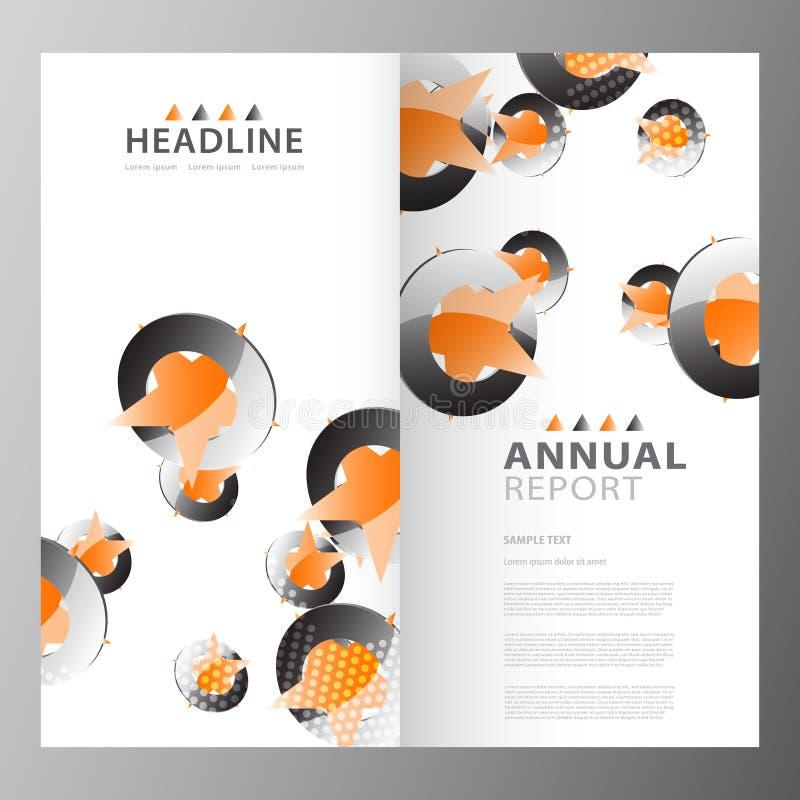 Modello variopinto di rapporto di affari annuali illustrazione di stock