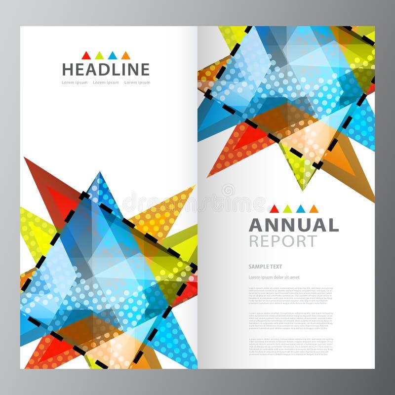 Modello variopinto di rapporto di affari annuali illustrazione vettoriale