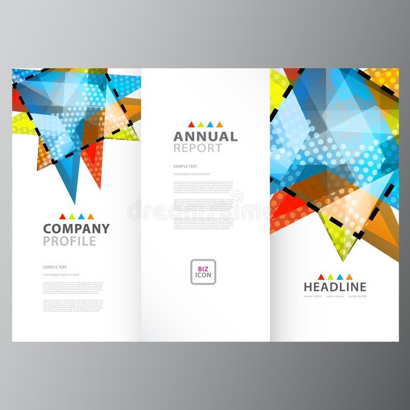 Modello variopinto di rapporto di affari annuali royalty illustrazione gratis