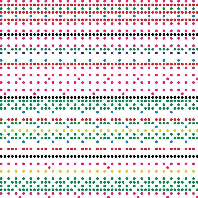Modello variopinto di struttura di Dots Retro Style Vector Background di domino illustrazione vettoriale