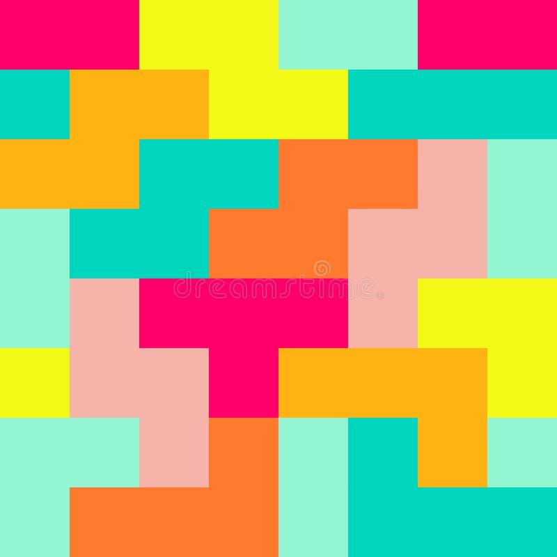Modello variopinto senza cuciture di Tetris royalty illustrazione gratis