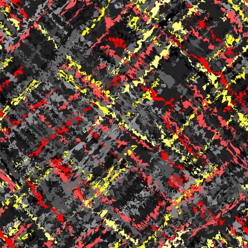Modello variopinto a strisce di lerciume diagonale senza cuciture illustrazione vettoriale