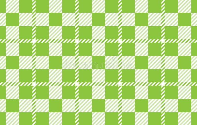 Modello verde chiaro del percalle Struttura dal rombo per - il plaid, tovaglie, camice, vestiti, carta, lettiera, coperte, trapun illustrazione di stock