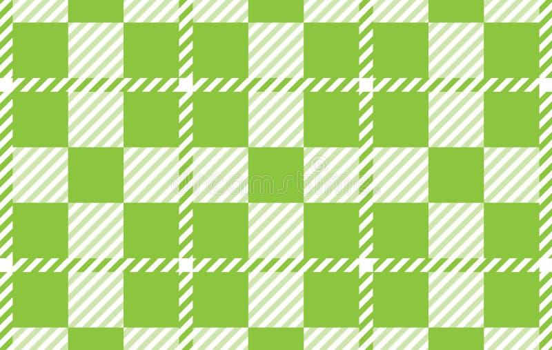 Modello verde chiaro del percalle Struttura dal rombo per - il plaid, tovaglie, camice, vestiti, carta, lettiera, coperte, trapun royalty illustrazione gratis