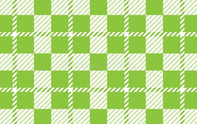 Modello verde chiaro del percalle Struttura dal rombo per - il plaid, tovaglie, camice, vestiti, carta, lettiera, coperte, trapun illustrazione vettoriale