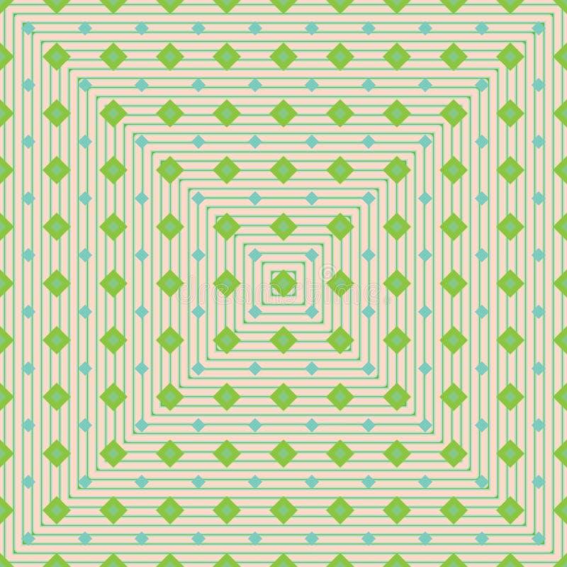 Modello verde dei seamelss di forma del diamante giovane illustrazione di stock