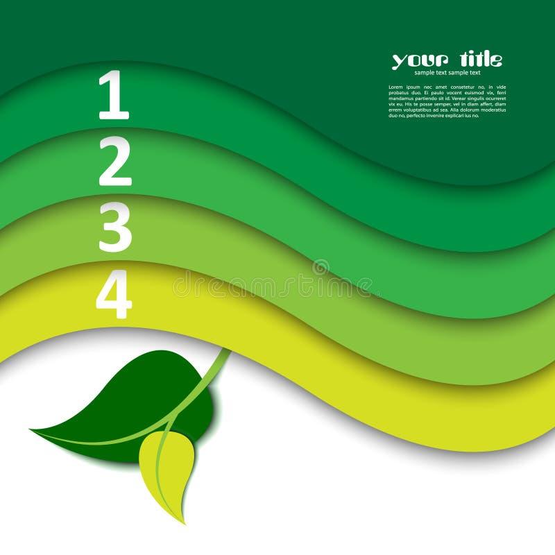 Modello verde del Web site illustrazione vettoriale