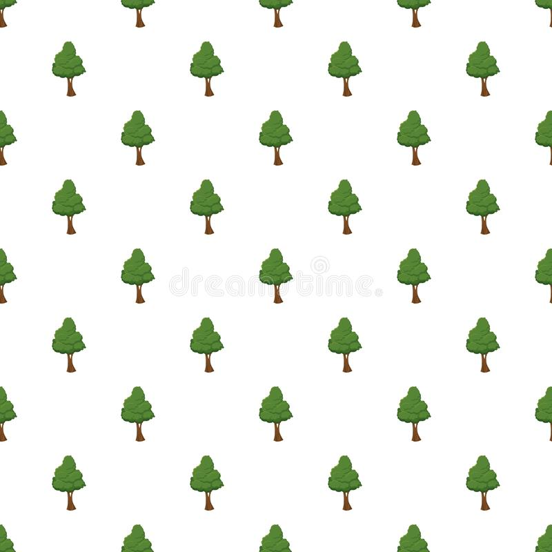 Modello verde dell'albero illustrazione di stock