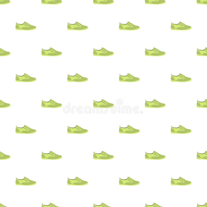 Modello verde della scarpa senza cuciture illustrazione vettoriale