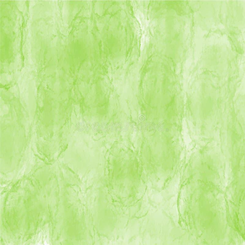 Modello verde di struttura di vettore del fondo dell'acquerello per i siti Web, le presentazioni o il materiale illustrativo royalty illustrazione gratis