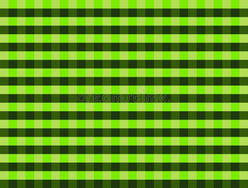 Modello verde e nero del percalle fotografia stock