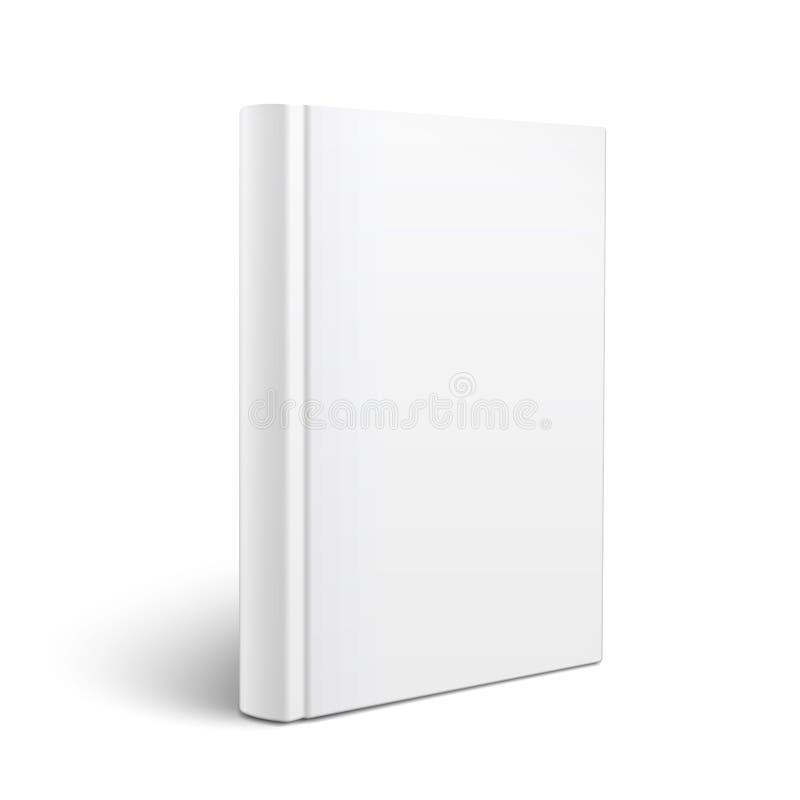 Modello verticale in bianco del libro. illustrazione vettoriale