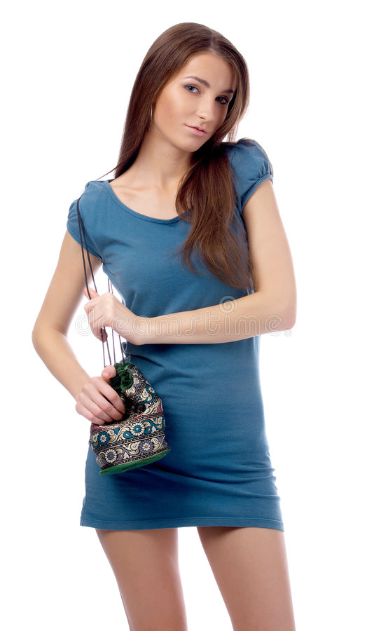 Download Modello in vestito blu immagine stock. Immagine di signora - 7323891