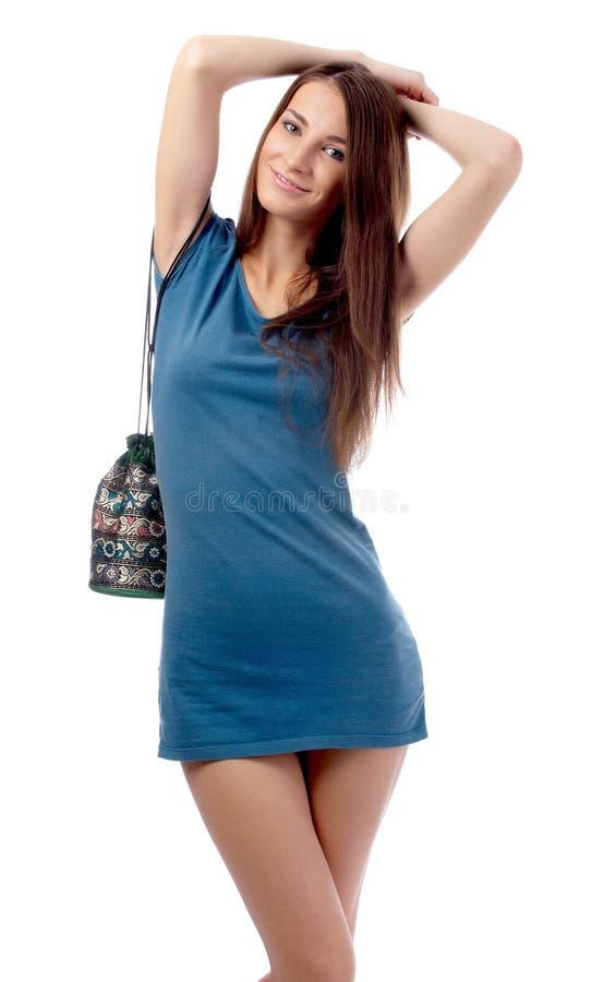 Download Modello in vestito blu fotografia stock. Immagine di lifestyles - 7323910