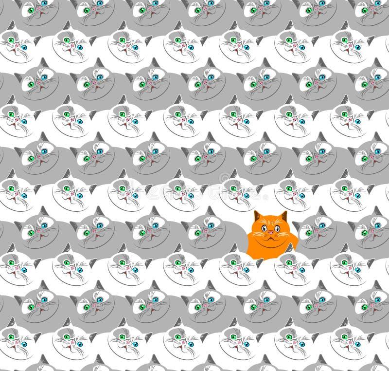 Modello-vettore-gatti immagine stock