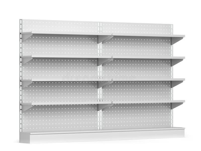 Modello vuoto degli scaffali del mercato illustrazione vettoriale