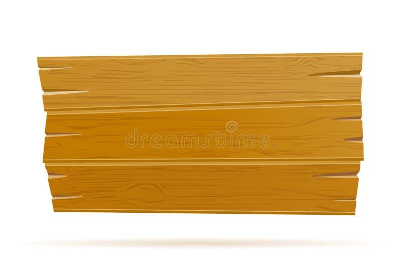 Modello vuoto del retro bordo d'annata anziano di legno per l'illustrazione di riserva di vettore di progettazione royalty illustrazione gratis