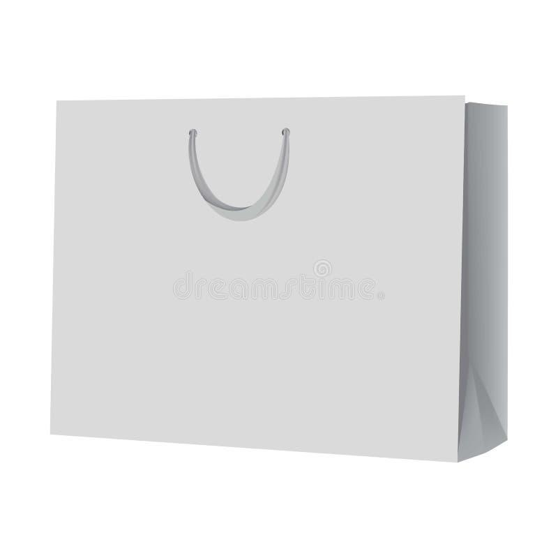 Modello vuoto del sacchetto della spesa, stile realistico royalty illustrazione gratis