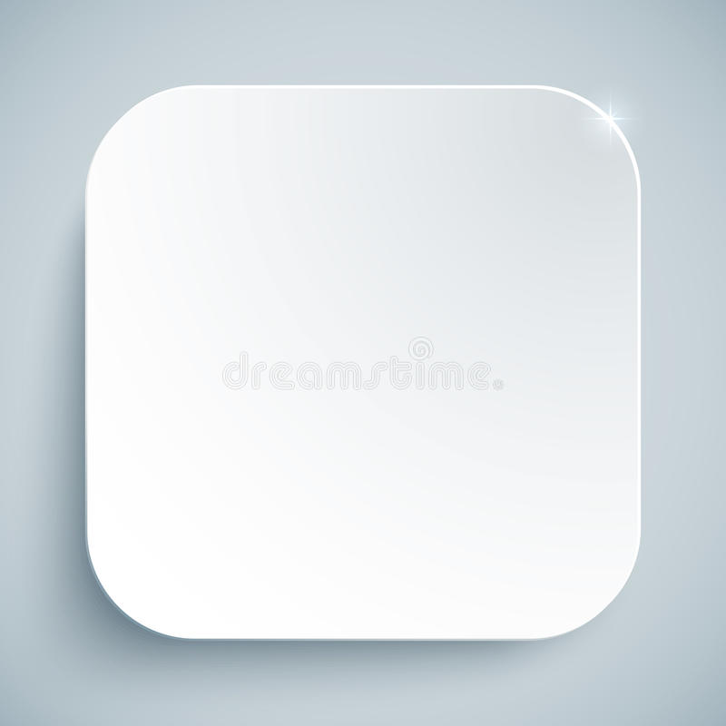 Modello vuoto di vettore standard bianco dell'icona royalty illustrazione gratis