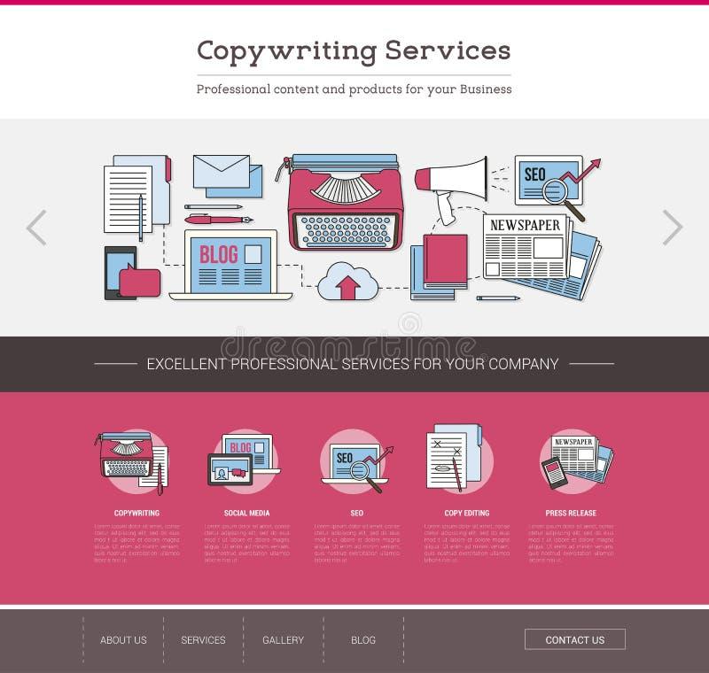 Modello Web di pubblicazione e di Copywriting royalty illustrazione gratis
