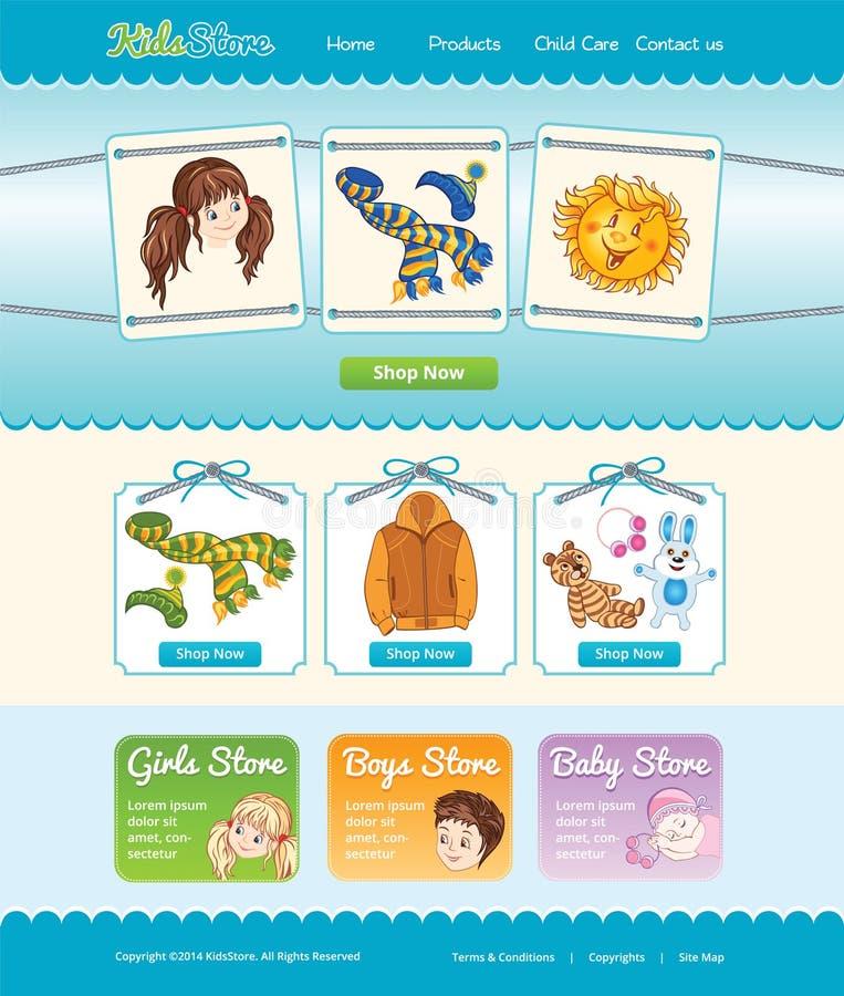 Modello Web per il negozio del bambino royalty illustrazione gratis