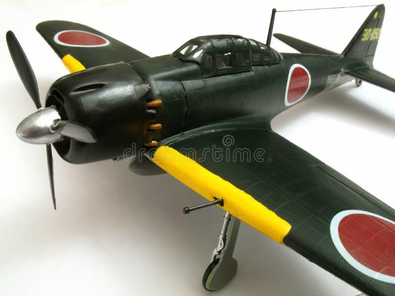 Modello zero dell'aereo di combattimento fotografie stock