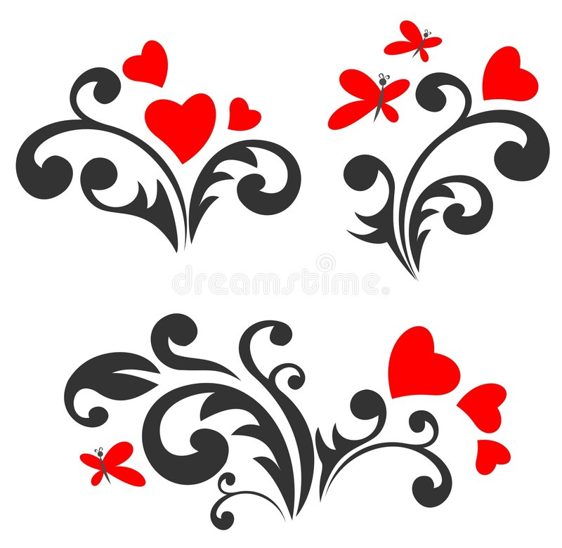 modellromantikerset stock illustrationer