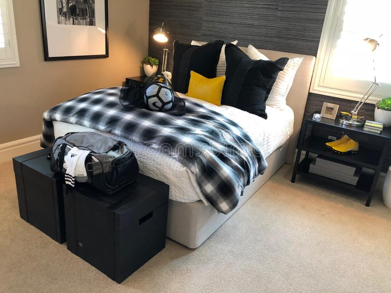 Modelluxury home interior stock afbeelding