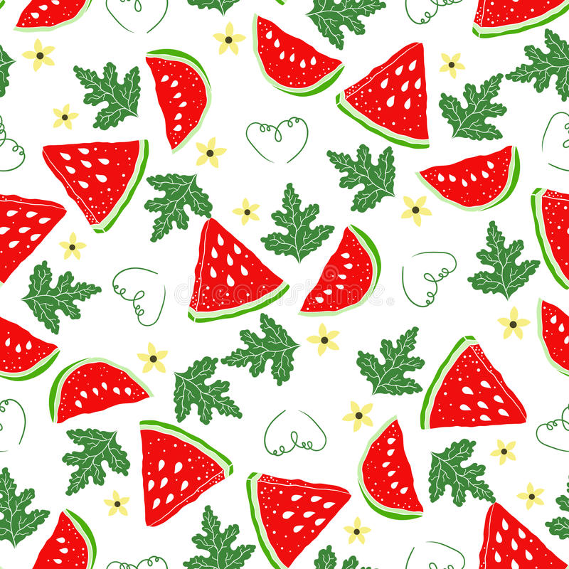 Modellvattenmelon stock illustrationer