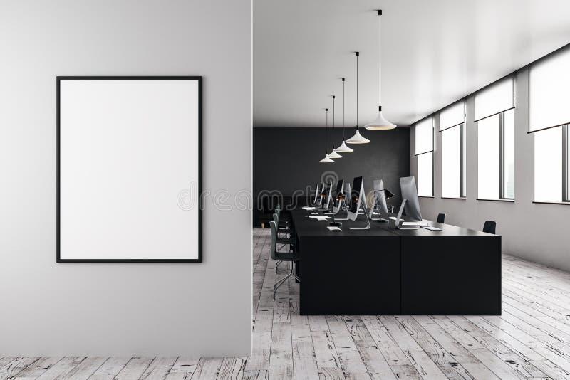 Modellwand im Büro des offenen Raumes lizenzfreie abbildung
