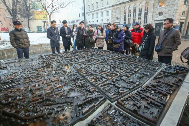 Modelo à escala da cidade de Zagreb imagem de stock