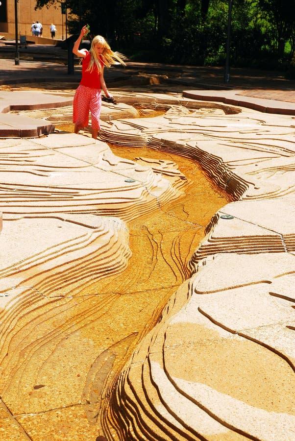 Modelo à escala de Wadthrougha do Mississippi foto de stock