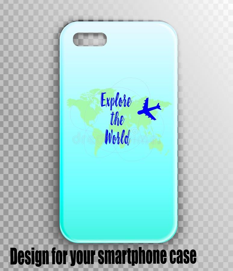 Modelo à moda do caso do iPhone com cópia do desenhista fotografia de stock