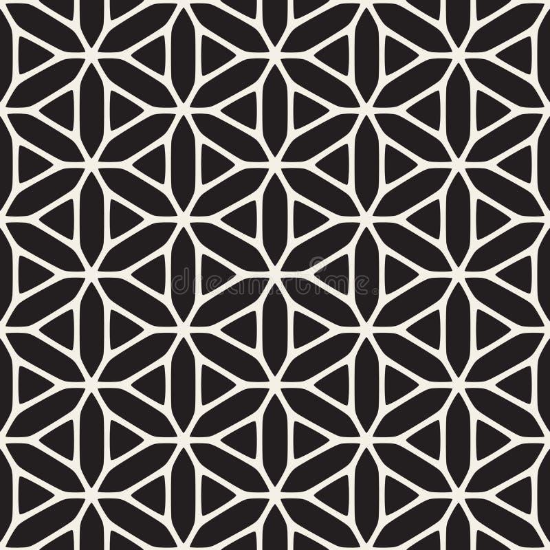 Modelo étnico blanco y negro inconsútil de la geometría del vector ilustración del vector