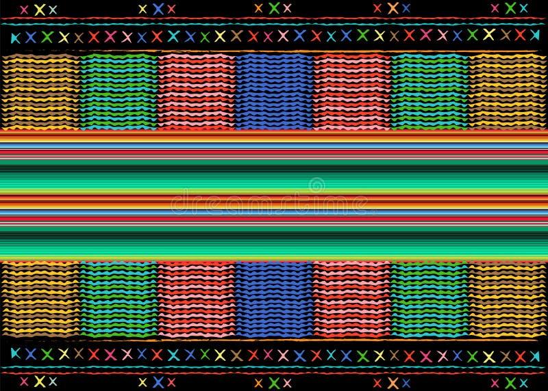 Modelo étnico del arte tribal étnico mexicano del bordado Fondo de repetición geométrico de la manta del extracto popular mexican libre illustration