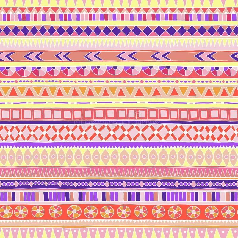 Modelo étnico del doddle tribal original stock de ilustración