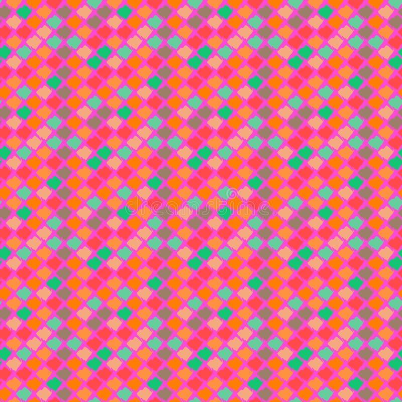 Modelo étnico del vector en colores brillantes. ilustración del vector